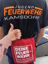 Die Botschaft ist klar in Kamsdorf. Fotos: ThFV